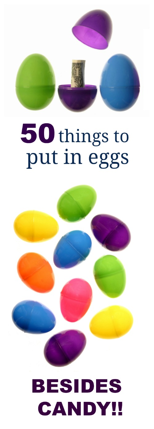 50 EGG FILLERS THAT AREN'T CANDY- tons of great ideas here!!  #eastereggfillers #eastereggfillersnoncandy #easteregghunt #egghuntideas #eastereggs