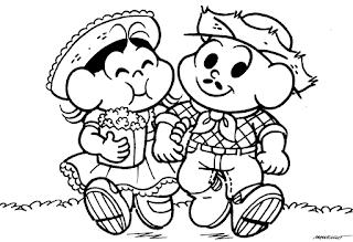 Imagens para colorir Festas Juninas