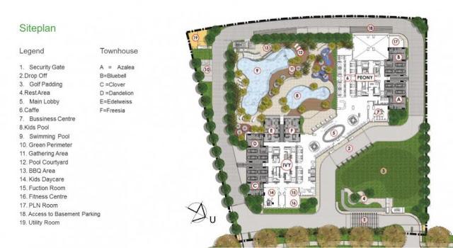 Siteplan Spesifikasi Golf Apartemen Pacific Garden Suites Alam Sutera www.rumah-hook.com
