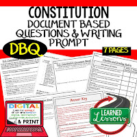 Constitution DBQ, Early American History DBQ, DBQ Document Based Question Writing Activity, American History Activities