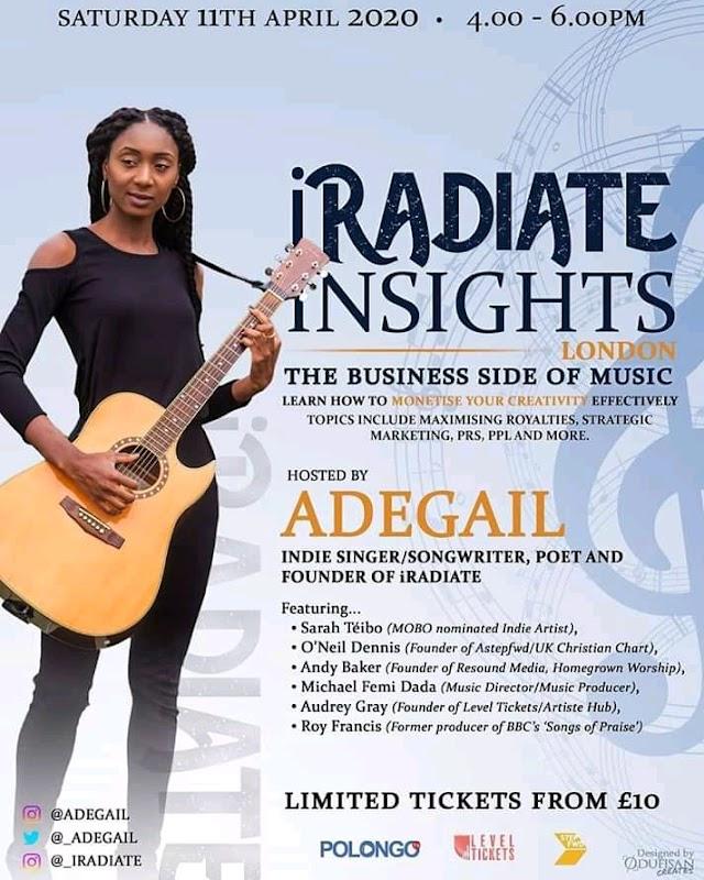 [Event] iRadiate Insights London    Saturday 11th April 2020