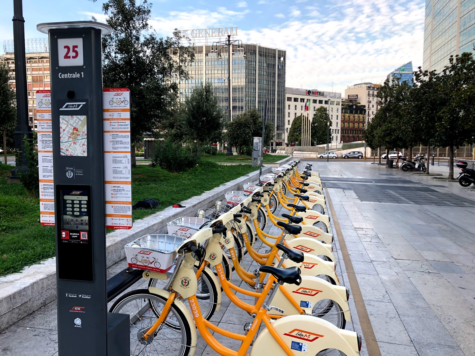 BikeMi a bike sharing program in Milan