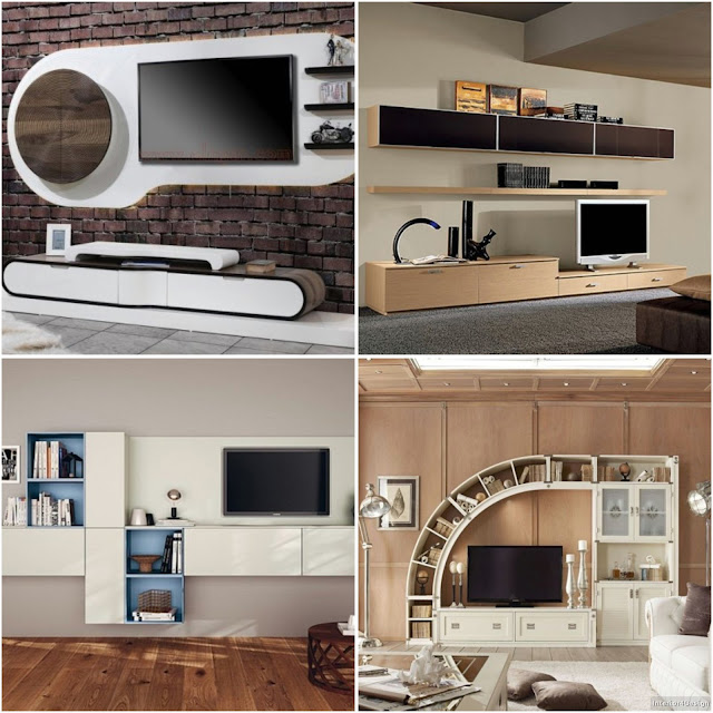 TV Desk Stand And Library Design Ideas For Modern Home