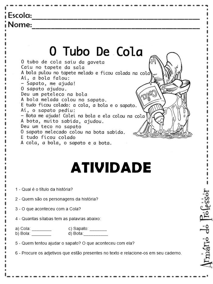 Exemplo de plano de aula de educação infantil