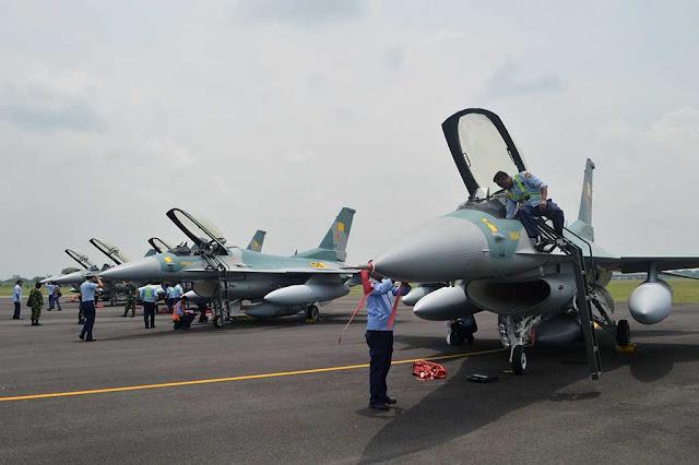Lima F-16 TNI-AU Hibah dari AS Telah Tiba