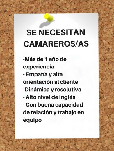 Oferta empleo camareros Pura&Concha Vigo