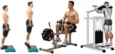 Elevaciones para trabajar los músculos de las pantorrillas