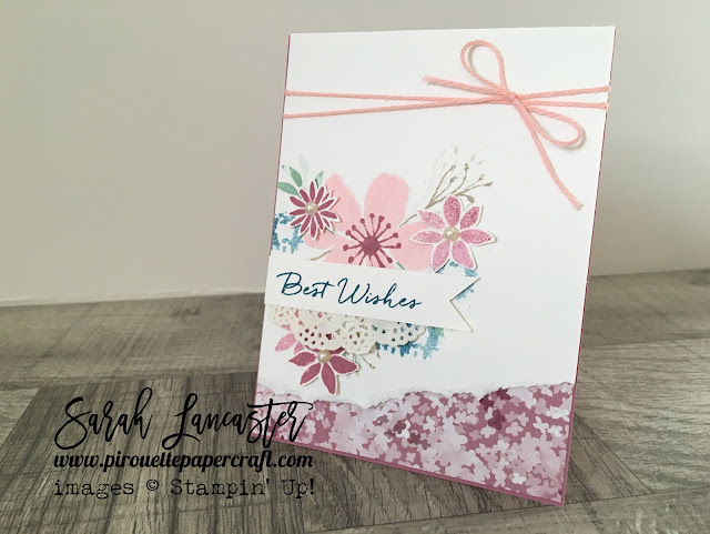 Stamps in the Mail kit Blooms and Bliss Sarah Lancaster Pirouette Paper Craft