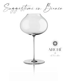 calice soffiato vetro vini bianchi archè