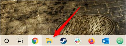 رمز مجلد مستكشف الملفات على شريط مهام Windows 10.