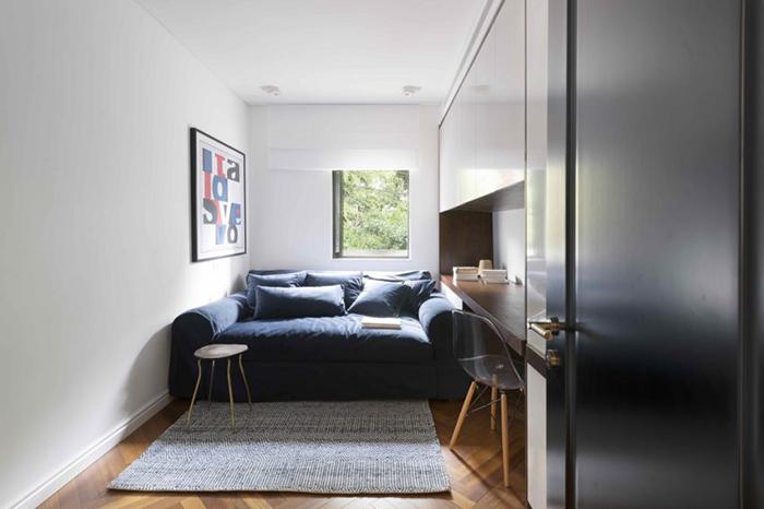 Thiết kế nội thất căn hộ chung cư 150m2 với hai màu đen trắng- 14
