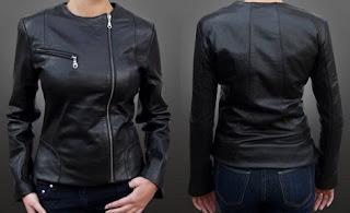 Gambar Jaket Kulit Motor untuk Wanita