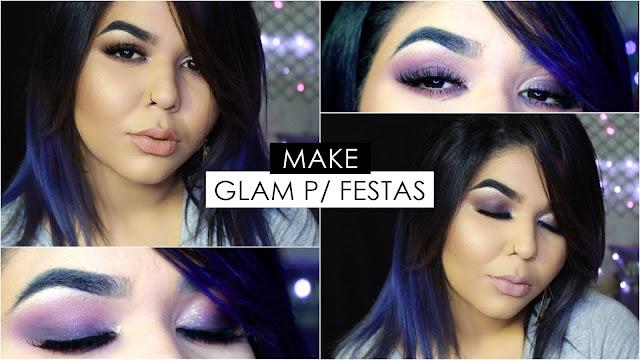 tutorial de maquiagem, maquiagem roxa super elegante, maquiagem Pri Lessa