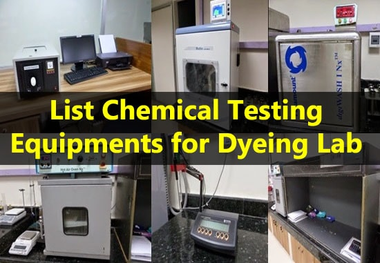 Testing equipments for dyeing lab