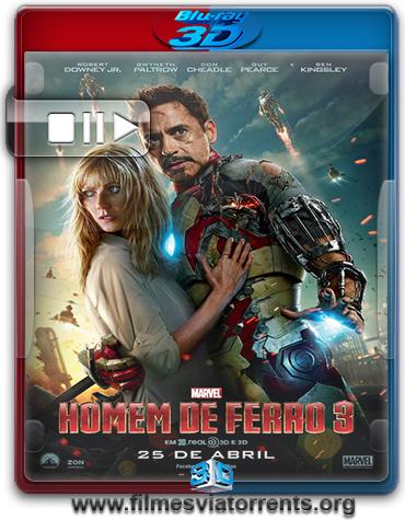 Homem de Ferro 3 Torrent - BluRay Rip 1080p 3D HSBS Dual Áudio 5.1 (2014)
