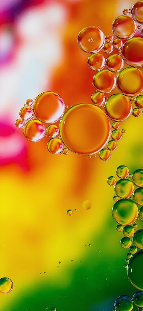 Cool bubbles in orange and yellow color wallpaper