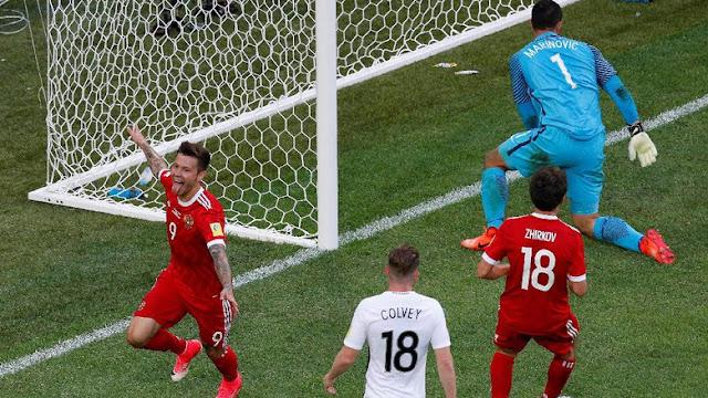 Rusia Kalahkan Selandia Baru Dengan Skor 2-0