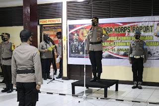 73 Personel Polres Pelabuhan Makassar Naik Pangkat, Kapolres :  Ini Amanah dan Titipan yang Harus di Emban