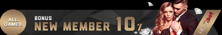 Bonus Member Baru 10%