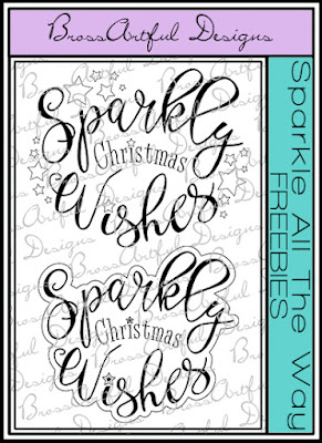 NEW Christmas Digi Sentiment Stamps and a FREEBIE!!