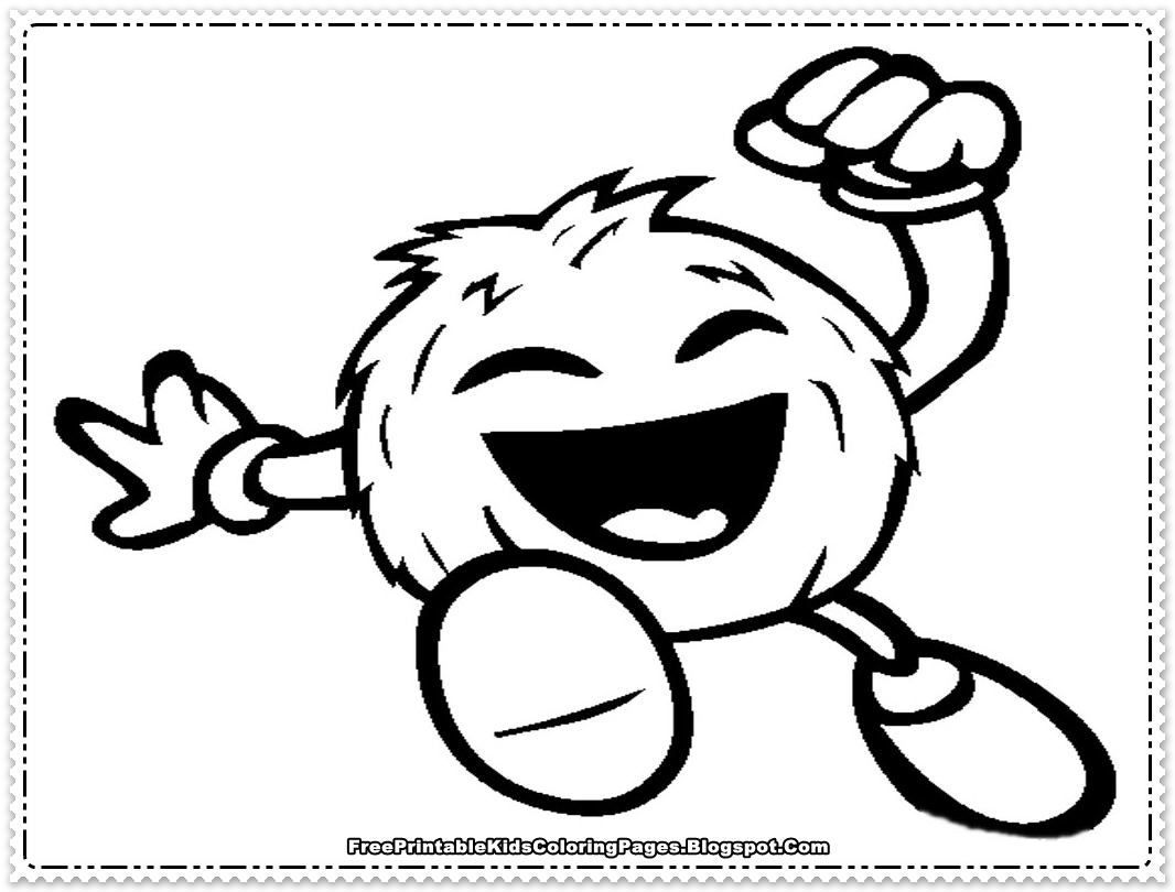 Coconut Printable Coloring Page