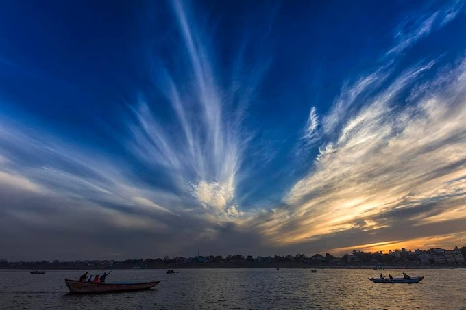 Cloud patterns over Ganges