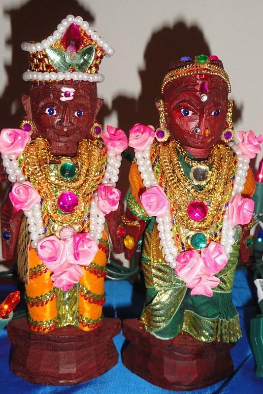 Tirupati bride and groom dolls
