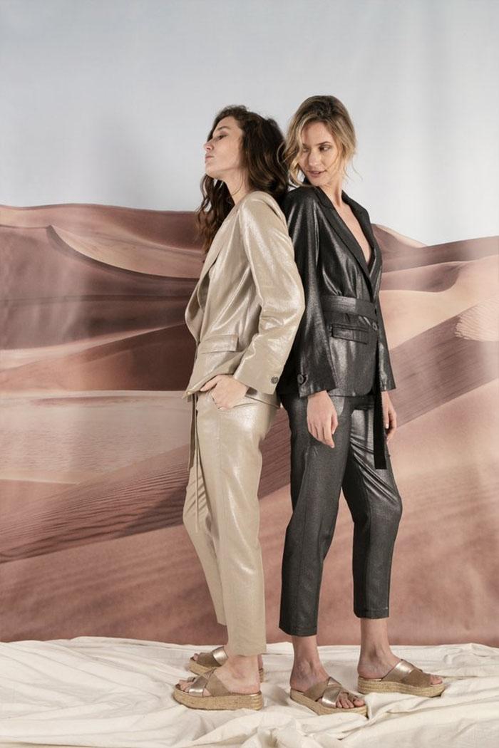 Sacos engomados, pantalones engomados de verano 2020. Moda 2020 mujer verano.