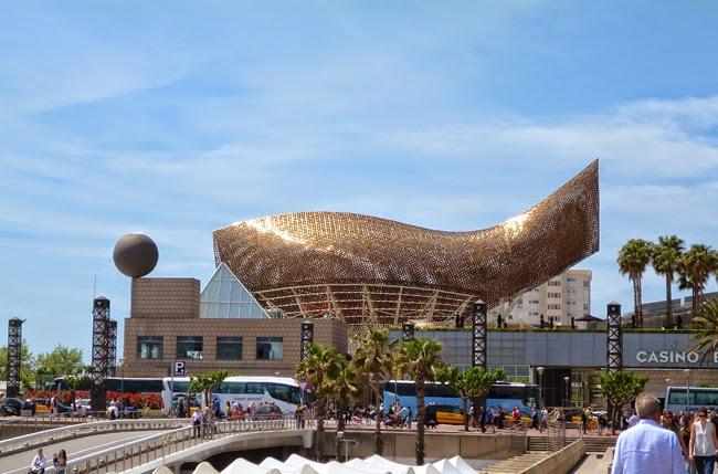 El pez vela de La Barceloneta