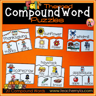 Compound Words Fall theme