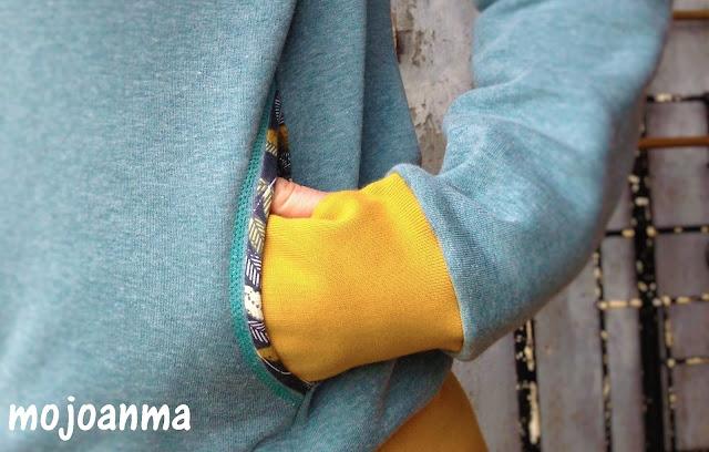 Ärmelbündchen, Daumenloch,swafing, senf, hoodie,pattydoo,kapuzenpullover