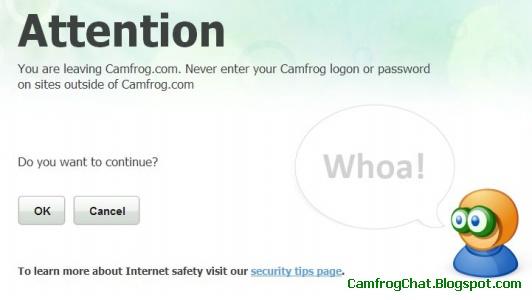 Peringatan Camfrog Redirect Website