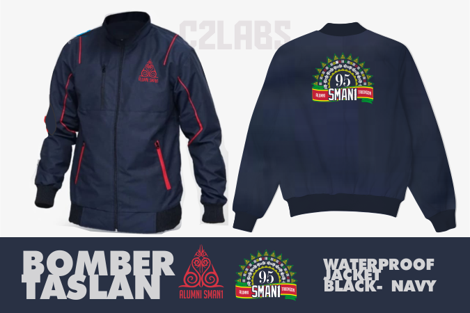 Alumni SMA 1 Takengon Bomber Taslan Jacket Waterproof Bordir Komputer