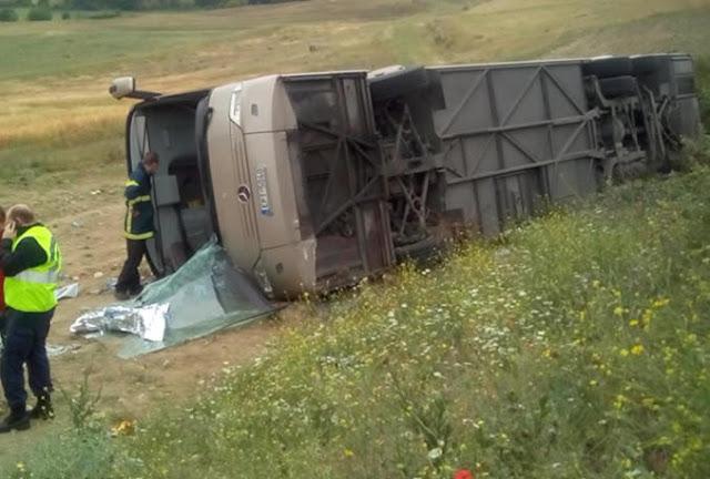Τροχαίο ατύχημα σήμερα το πρωί με λεωφορείο γεμάτο μαθητές δημοτικού στις Σέρρες