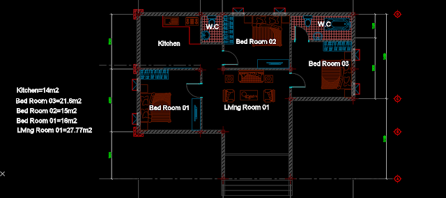 Floor Plan AutoCAD Drawing File For Free Download, Home Design 7x13