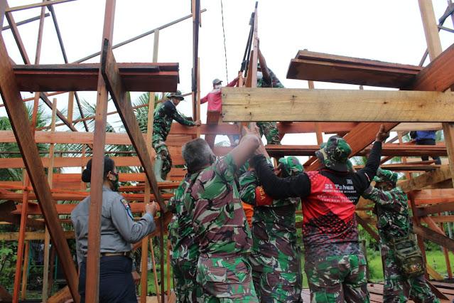 Jasa TNI Untuk Desa Babirah dan Bapinang Hilir Sangat Besar