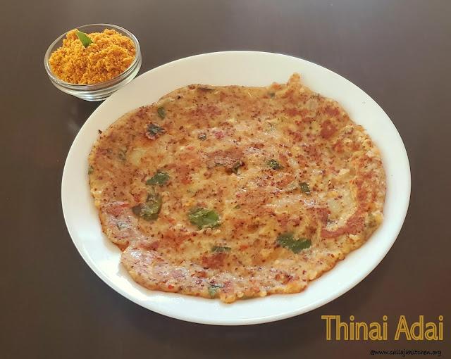 images of Thinai Adai / Foxtail Millet Adai / Millets Adai - Millets Recipes