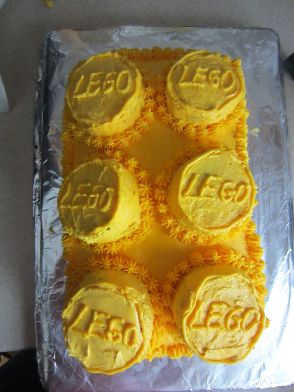 The Yellow Lego Birthday Cake