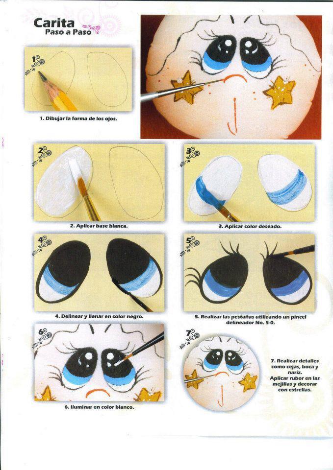 Dibujos Y Plantillas Para Imprimir Pintado Ojos De Muñecas