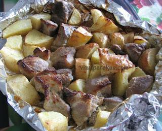 блюда из свинины и картошки