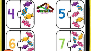Puzzle de los números del 1 al 10