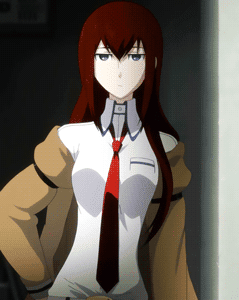 Example of nekupai ネクパイ - character Makise Kurisu 牧瀬紅莉栖 from anime Steins;Gate