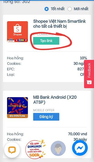 Hướng dẫn tạo link Affiliate và chọn sản phẩm uy tín để Kiếm tiền trên Accesstrade