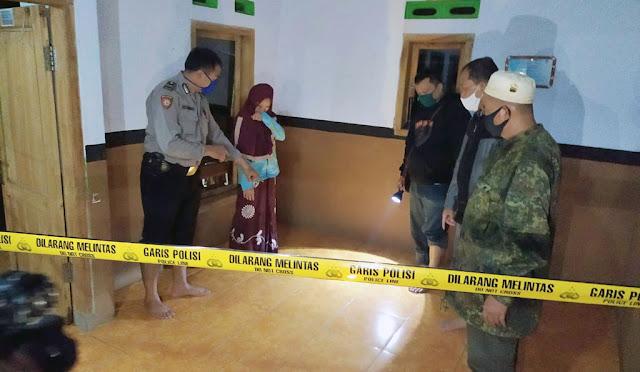 Foto petugas saat olah TKP dan foto pelaku