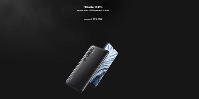 Spesifikasi lengkap Mi Note 10 Pro