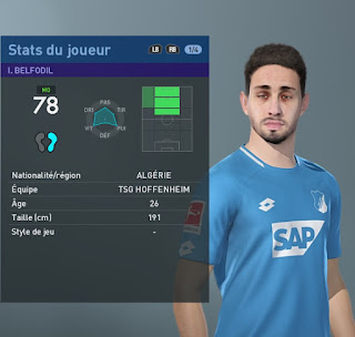 PES 2019 Faces Ishak Belfodil by TiiToo Facemaker