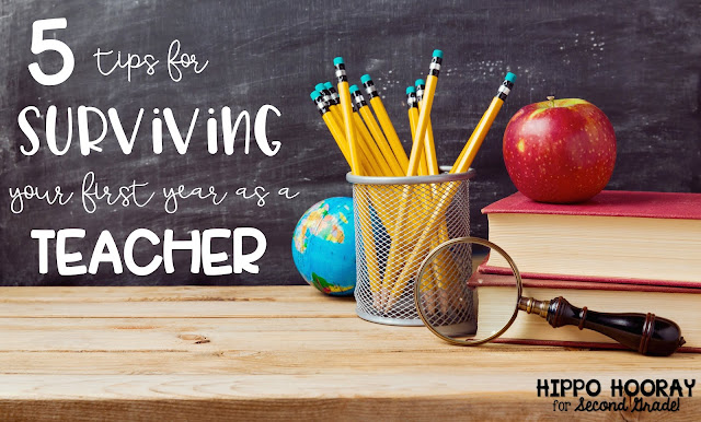 Calling all beginning teachers! This blog post has 5 tips for making your first year as a teacher a successful one!