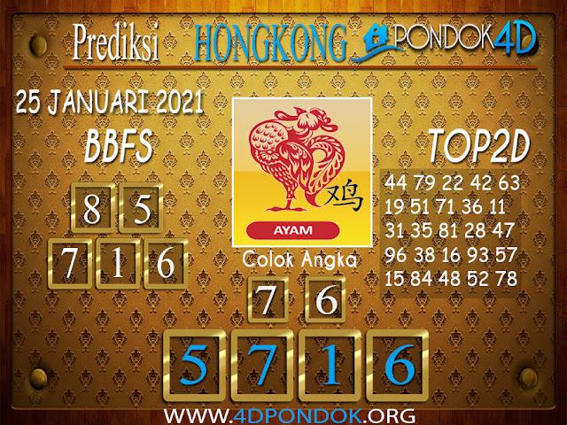 Prediksi Togel HONGKONG PONDOK4D 25 JANUARI 2021