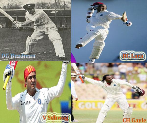 Triple Centuries in Test Cricket | Full Details