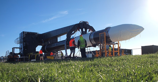 The Electron at Rocket Lab's Launch Complex 1. Photo: Rocket Lab.